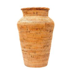 Honey Rattan Decor Vase