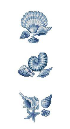 Cross stitch pattern in bleu Cross Stitch Sea, Cross Stitch Kitchen, Cross Stitching, Cross Stitch Embroidery, Embroidery Patterns, Cross Stitch Designs, Cross Stitch Patterns, France Patchwork, Beading Tools