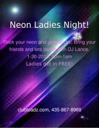 Wednesday, January 30th, 2013 TOADZ 432 N. 100 W.  Cedar City Free for Ladies