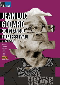 Director posters for the Istanbul international film festival: Jean-Luc Godard