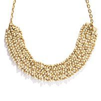 Perfect Gold! pearled necklace; matched with a casual shirt or a classy dress.