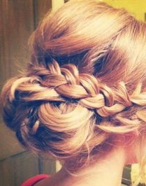 Elaborate braided updos for special occasions.