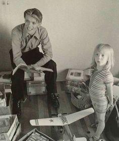 David Bowie & Duncan Jones (Zowie Bowie)
