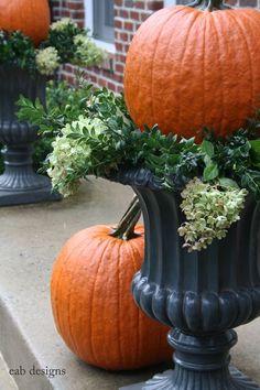 Pumpkin urns 2