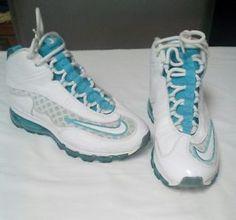 best sneakers b940a 6bd0e Men s Air Max Ken Griffey Jr. Swingman 442478-100 Shoes (Sz 8 )White Blue