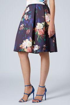 Blur Rose Midi Skirt