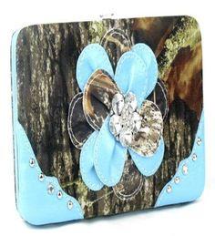 Camouflage Blue Flower Wallet  #HBM #Clutch