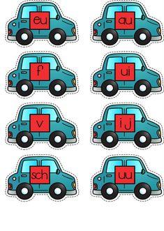 Spellenbundel Thema voertuigen Kinderboekenweek School Daze, 4 Kids, Clip Art, Kids Rugs, Letters, Teaching, Fun, Board, Kid Friendly Rugs