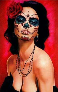 sugar skull - awesome makeup