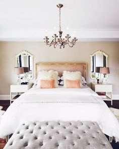 8 Glamorous ideas for your bedroom