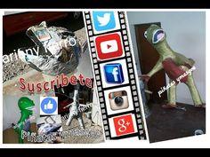 Como hacer la cabeza para piñata de Dinosaurio