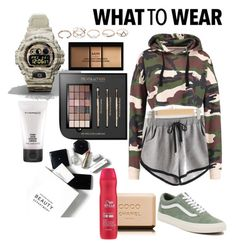 """Gym"" by piggychops on Polyvore featuring beauty, H&M, Chanel, MAC Cosmetics, Wella, Vans, G-Shock, NYX and GUESS"