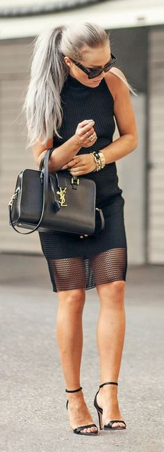Back And Gold Chic Outfit by Angelica Blick