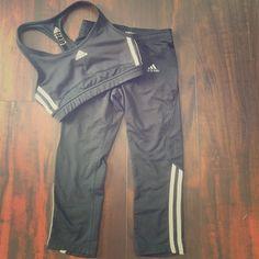 Adidas workout 2 piece Sports bra and Capri Adidas Other