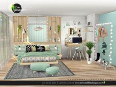 's Zara Bedroom The Sims 4 Pc, Sims 4 Teen, Sims 4 Toddler, Sims Cc, Sims 4 Bedroom, Teen Bedroom Sets, Sims 4 Cc Furniture, Home Furniture, Resource Furniture