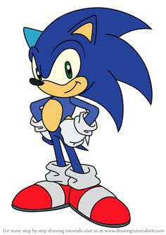 Learn How to Draw Sonic the Hedgehog from Sonic X (Sonic X) Step by Step : Drawing Tutorials Hedgehog Drawing, Hedgehog Craft, Sonic The Hedgehog, Disney Drawings, Cartoon Drawings, Easy Drawings, Doodle Characters, Sonic Fan Characters, Costume Sonic