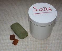 Olivenölseife, Gallseife und Soda