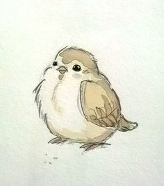 little bird sketch and watercolor - mike martin