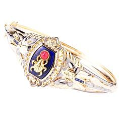 Michael Valitutti Two-tone Lapis Lazuli and Red Jade 'Scarab Beetle' Bracelet: Jewelry