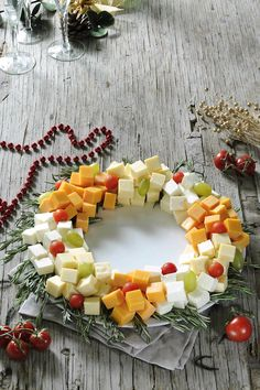 Cheeses wreath