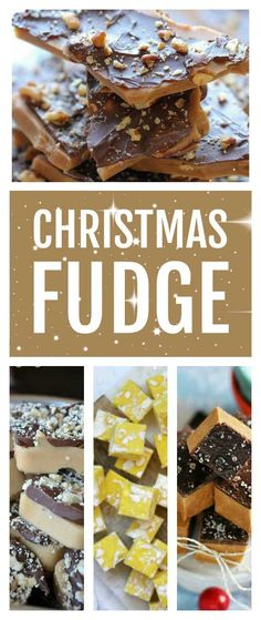 The best easy homemade Christmas fudge and Christmas toffee recipes and ideas that make lovely Christmas gifts including peanut butter fudge, white fudge, marshmallow fudge and 3 ingredient fudge you can make in the slow cooker or microwave Christmas Fudge, Christmas Pudding, Christmas Treats, Christmas Baking, Christmas Cookies, Homemade Christmas, Christmas 2019, Fudge Recipes, Dessert Recipes