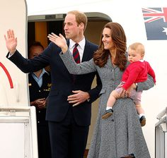 And They're Off! The royal family waved goodbye at the end of their three-week tour of Australia and New Zealand. The Duke and Duchess of Cambridge, and their son, Prince George, went formal for the occasion, sporting the colors of Australia's flag as they boarded the plane.