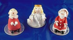 christmas walnut whip characters here are some Christmas Eve, Xmas, Christmas Ideas, Christmas Cake Decorations, Christmas Cakes, Walnut Whip, Christmas Characters, Sugar Paste, Sugar Flowers