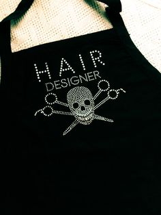 Vintage Skull Hairstylist Apron  by AllieNicoleBoutique on Etsy