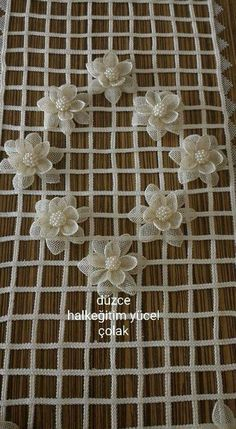 This Pin was discovered by gül Crochet Tablecloth, Crochet Doilies, Crochet Lace, Filet Crochet, Irish Crochet, Crochet Flower Patterns, Crochet Flowers, Jute Crafts, Manta Crochet