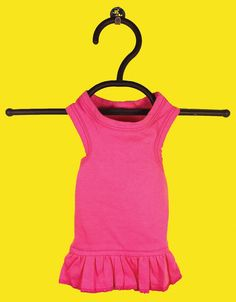 Hot pink dog Tshirt dress = stylin'!!!!  $15.99  www.fetchdogfashions.com   #puppy
