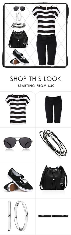 """""""Untitled #922"""" by gallant81 ❤ liked on Polyvore featuring MANGO, Alice + Olivia, The Row, Kevin Jewelers, Vans, MICHAEL Michael Kors, Pandora and Yves Saint Laurent"""