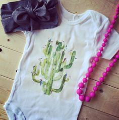 Cactus Onesie for those times when your little cowgirl gets a bit prickly.