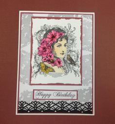 Elizabeth Bennet Stamp from IndigoBlu, used by our resident card designer Carol!