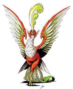 Suzaku   Megami Tensei Wiki   Fandom Water Spells, Vermilion Bird, Wings Card, Monster Drawing, Chinese Mythology, Shin Megami Tensei, Fire Element, Mythical Creatures, Constellations