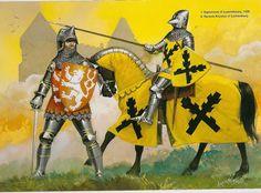 Kaiser und König Sigismund von Luxenburg (1)und Hyneck von Lichtenburg.