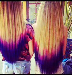 diped dyed hair