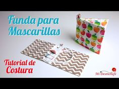 Tutorial de Costura - Funda para Mascarillas - Patrón GRATIS - Mask cover - YouTube Fun Projects, Sewing Projects, Girl Dress Patterns, Skirt Patterns, Coat Patterns, Blouse Patterns, Heirloom Sewing, Pattern Drafting, Wedding Art