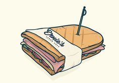Ernie's Cuban Cafe by Ramiro Carranza, via Behance