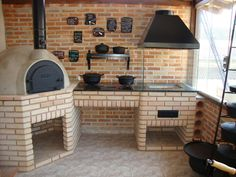 Best home decoration ideas Wood Oven, Wood Fired Oven, Outdoor Oven, Outdoor Cooking, Barbecue Four A Pizza, Brick Bbq, Bbq Area, Summer Kitchen, Outdoor Kitchen Design