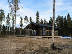 A villa (Honkatalot Polar 103) under construction