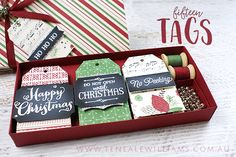 By Teneale Williams | Stampin' Up! Australia | This Christmas Specialty DSP and Stamp Set Oh What Fun