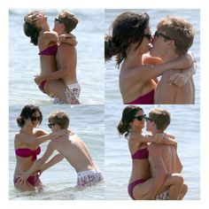 Pictures of Justin Bieber and Selena Gomez Kissing in the Ocean