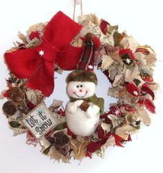a random remnants Christmas wreath