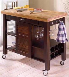 rolling-butcher-block-table-island-ideas.jpeg (446×496) Ikea makeover