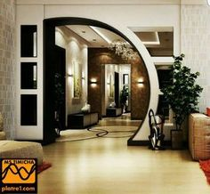 Top 100 arch designs for living room - latest pop arches ideas 2020 Living Room Partition Design, Room Partition Designs, Ceiling Design Living Room, Living Room Designs, Partition Ideas, Living Room Divider, Arch Designs For Hall, Hall Design, House Arch Design