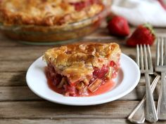 Strawberry Rhubarb Pie from completelydelicious.com