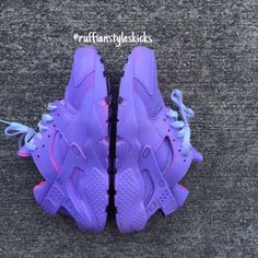 All purple w/ pink highlights huarache
