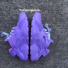 All purple w/ pink highlights huarache