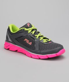 Take a look at this Lime Punch & Hot Pink Finest Hour Running Shoe by FILA on #zulily today!