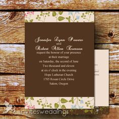 Affordable Floral Wedding Invitations for Casual Outdoor Venues – Part One -InvitesWeddings.com